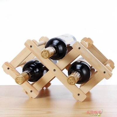 實木折疊紅酒架 鬆木制葡萄酒架 多瓶裝酒瓶架 歐式紅酒架擺件SP568