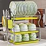 『舒適小屋』✿瀝水架三層洗碗架瀝水架廚房...