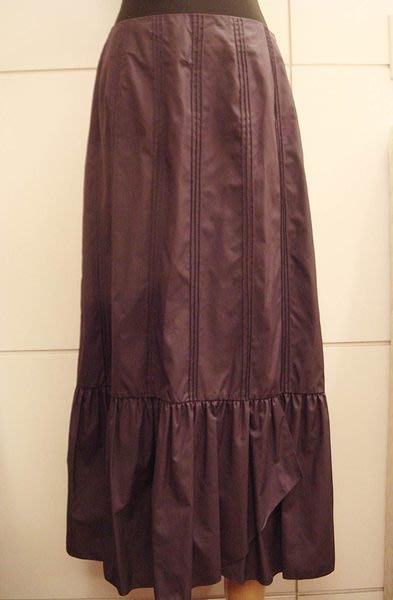 出清大降價!近全新進口設計師品牌 MODE PARIS 紫色蛋糕裙長裙,低價起標無底價!本商品免運費!