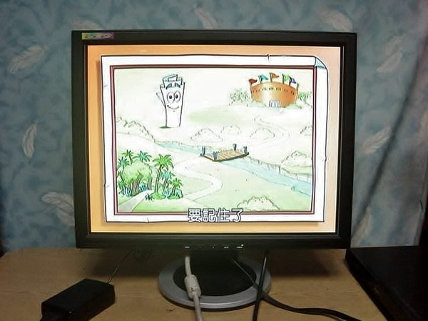 Y保固3個月【小劉二手家電】MONI 19吋鏡面電腦液晶螢幕,有影像端子,可接DVD,監視器