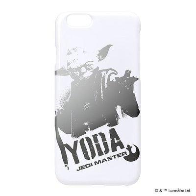 尼德斯Nydus~* 日本正版 迪士尼 星際大戰 硬殼 手機殼 白底太空銀 尤達 Yoda 4.7吋 iPhone6