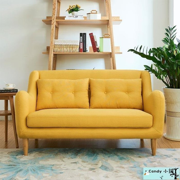 Candy 小鋪ヾ免運 沙發 沙發床 懶骨頭 北歐簡約現代小戶型布藝沙發弧形客廳省空間單人雙人三人沙發整裝