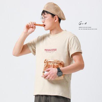 GWIT 【Tenacious】厚版印 夏季新款寬松潮體恤休閒圓領短袖T恤男