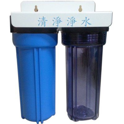 【清淨淨水店】二道式洗衣機過濾器、洗衣機淨水器(洩壓鈕型)全配件含專用延長水管只賣650元