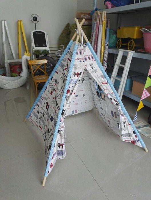 東大門平價鋪 兒童純棉布室內遊戲帳篷,兒童戶外印第安造型遊樂帳篷