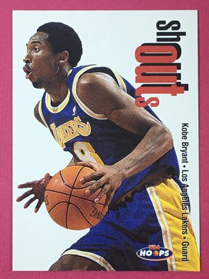 1998-99 NBA SkyBox Hoops Shout Outs #21 Kobe Bryant Lakers