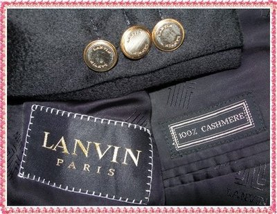 【LANVIN Boutique 】浪凡旗艦總店真品100%頂級CASHMERE 單排兩扣正式西裝上衣