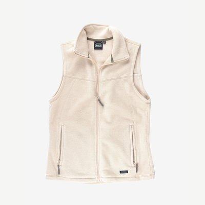 AIGLE Fleece Vest 米白 L 刷毛 POLARTEC 中層衣 背心 口袋 戶外 保暖 短絨毛 高雄市