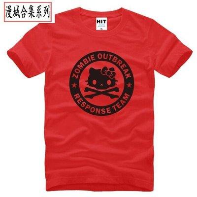 男式T恤 Zombie Outbreak Response Team Kitty Skull 骷髏 卡通 judoo