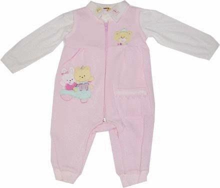 可愛寶貝---◎◎全新排扣上衣+熊與貓繡花吊帶褲--- 中厚◎◎☆☆人氣商品☆☆