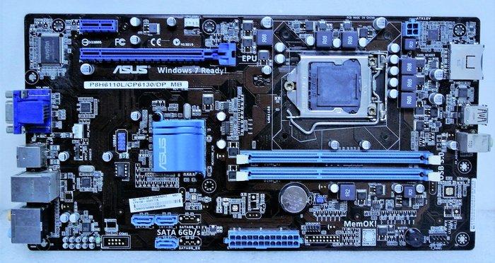 ~ 駿朋電腦 ~ 華碩 P8H6110L/CP6130/DP_MB 1155腳位 DDR3 顯示 $700