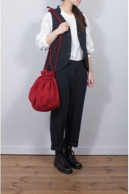 現貨 日本質感品牌 Nest Robe 雜誌接載款 毛呢 水桶 肩背包 ichi tumugu