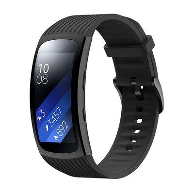 熱賣錶帶 手錶配件 適配三星Galaxy Gear Fit2 proSM-R360手表R365條紋硅膠手環表帶 凱撒小鋪
