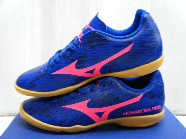 新太陽 MIZUNO 美津濃 MONARCIDA NEO Q1GA201352 室內 平底 足球鞋 藍粉 特1300