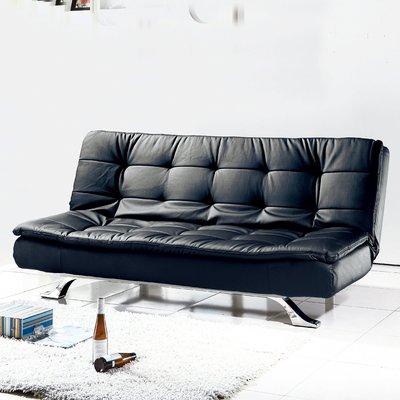 【在地人傢俱】19 樂樂購-2002型黑色皮2人/二人/雙人沙發床/沙發椅 JL95-2