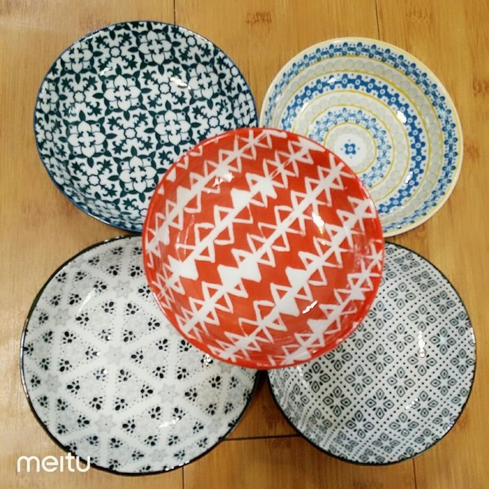 日式5.5寸方形陶瓷湯盤碗/涼拌盤/烤盤/烤皿/小菜碟