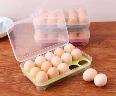 寶貝玩具屋二館☆【新款雞蛋盒-安全保護雞蛋收納盒】聰明貼心設計廚房週邊系列☆【日用品】