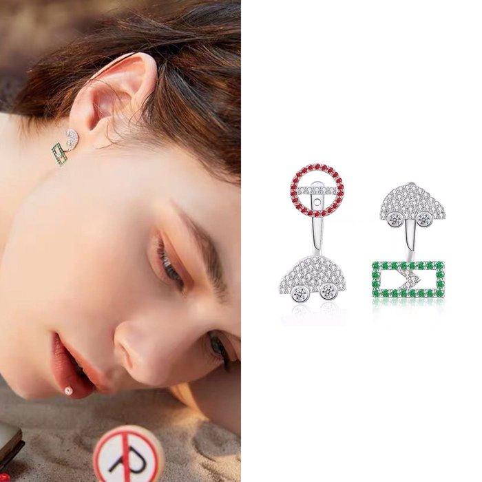 💎1646、飛機遊記系列 魅力時尚Mini噗噗旅遊耳環💎 名牌精品 耳環 925純銀耳針 空運來台 輕奢珠寶 正韓飾品