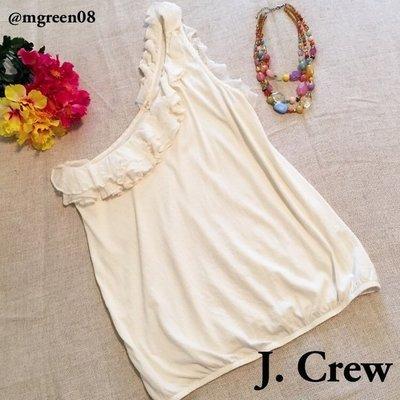 【美衣大鋪】 jcrew ☆ J.Crew 正品☆RUFFLE ONE-SHOULDER TOP 美背心~黑色