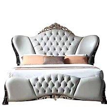 *楴傢*傢俱*歐式 新古典 木雕 貼箔 年度特價 雙人床 J168
