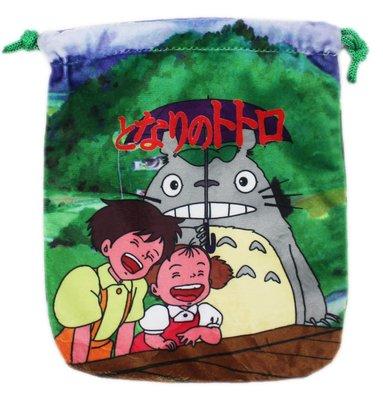 【卡漫迷】 龍貓 束口袋 雙面同圖案 Totoro 龍貓公車 小琪 巴士 豆豆龍 相機包 零錢包 收納袋 手機袋