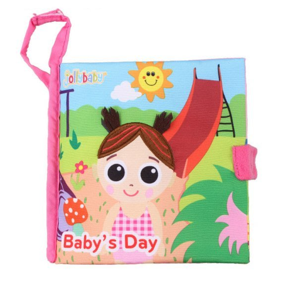 Jolly baby 寶寶美好的一天 響紙互動學習布書/嬰兒布書