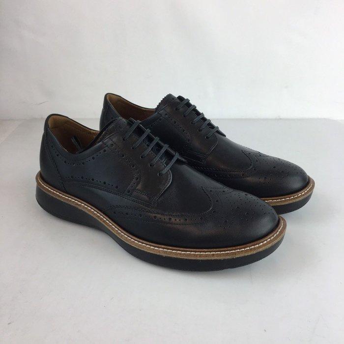玉米潮流本舖 ECCO LHASA 60085401001 黑 牛皮 皮鞋