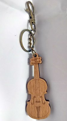 ╰☆美弦樂器☆╯木材質樂器造型鑰匙圈(小提琴)