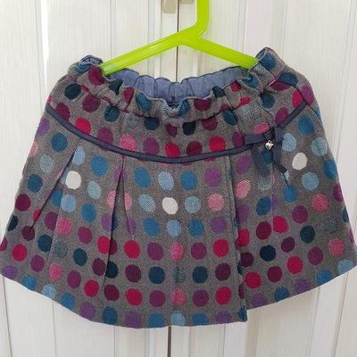 麗嬰房 familiar~彩色點點毛料褲裙
