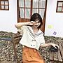 小香風 短袖T恤 時尚穿搭 韓版 寬松短款海軍風短袖襯衫女裝學生設計感小眾輕熟上衣襯衣