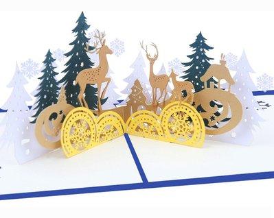 聖誕節卡片 聖誕森林 * 雪人 聖誕老...