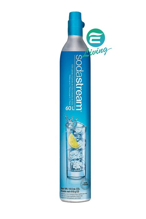 【易油網】Sodastream Jet藍色 氣泡水機 CO2 補充鋼瓶 60L #1136900121
