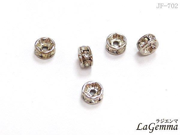 【寶峻鹽燈】DIY素材~金色水鑽隔珠 白鑽 流行串珠,手鍊/項鍊環,飾品配件 閃亮飾品 手作 JF-702