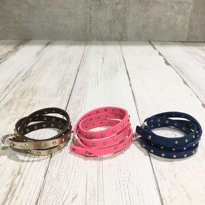Maple麋鹿小舖 Hollister Co * HCO  鉚釘皮質纏繞設計手環 * ( 現貨3色 )