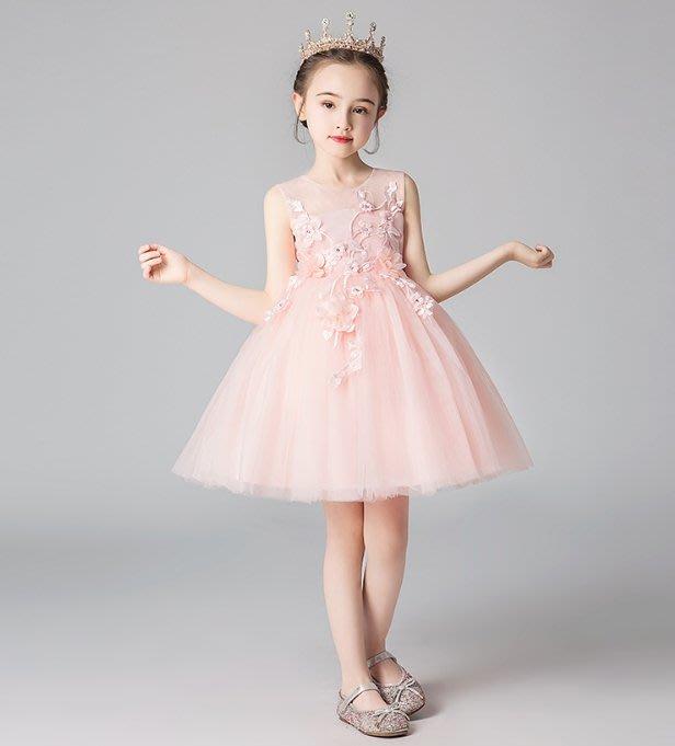 •*~ 辣媽咪衣飾小舖 ~*•❤童裝系列❤K980465韓版大童夏款甜美清新時尚蓬蓬蕾絲亮片可愛公主禮服公主洋裝