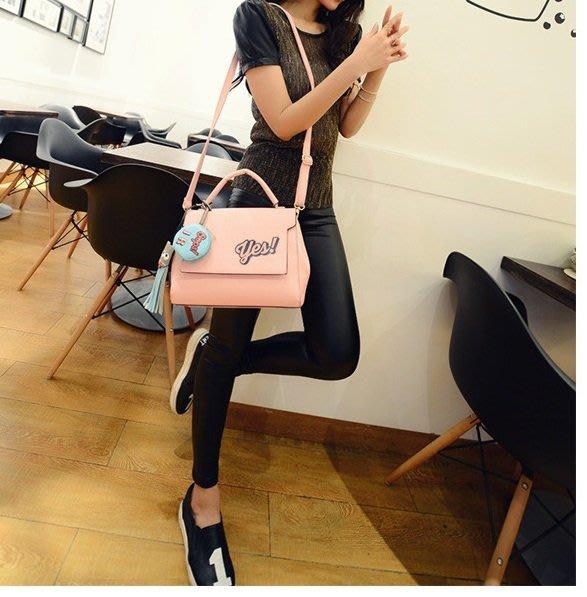 Cutie-Newbag【AA0548】FINEKNIT 新款韓版時尚馬卡龍流蘇潮包可愛單肩手提包撞色包