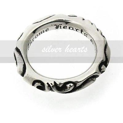 【SILVER HEARTS】Goro's Chrome Hearts 克羅心 Scroll Band 純銀戒指 指環