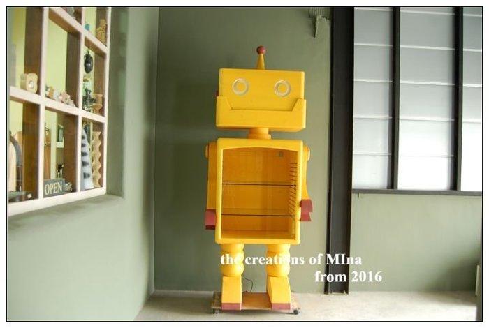 米娜天然直感手作-機器人系列3 仿真鐵殼機器人專賣店 收納櫃 鄉村風格家具專業設計訂做