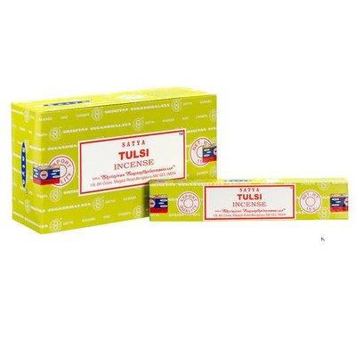 [綺異館] 印度香 賽巴巴 聖羅勒- 療癒舒壓 15g Satya tulsi 線香 另售印度皂