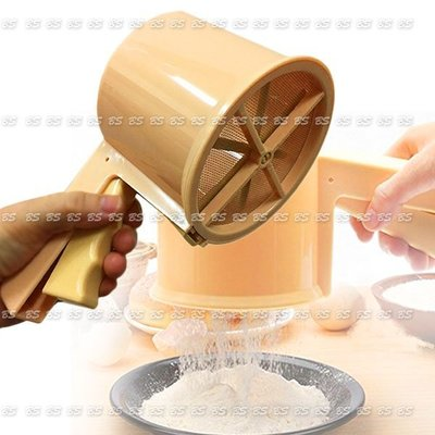 TS0103_001 手壓式麵粉篩帶底蓋、有刻度粉篩網、麵粉篩
