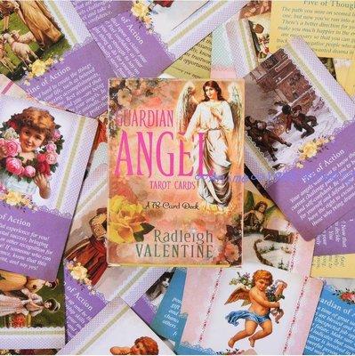 ∞Anime∞贈中文翻譯 Guardian Angel Tarot Card 守護天使英文占卜塔羅牌