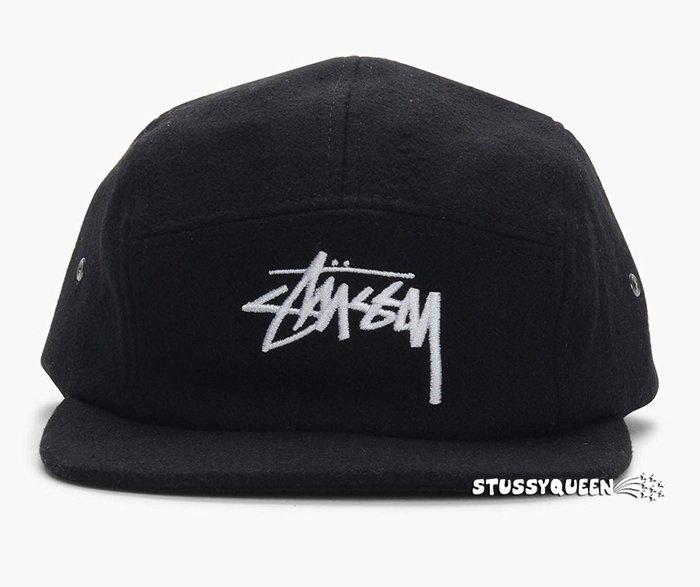 【超搶手】全新正品 現貨 STUSSY STOCK WOOL CAMP CAP 羊毛 五分割帽 棒球帽 黑色 灰色 棗紅