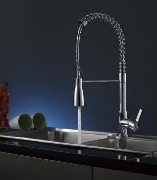 全精銅鑄造豪華修身造型廚房冷熱水龍頭80536(出水嘴可拉伸1米)