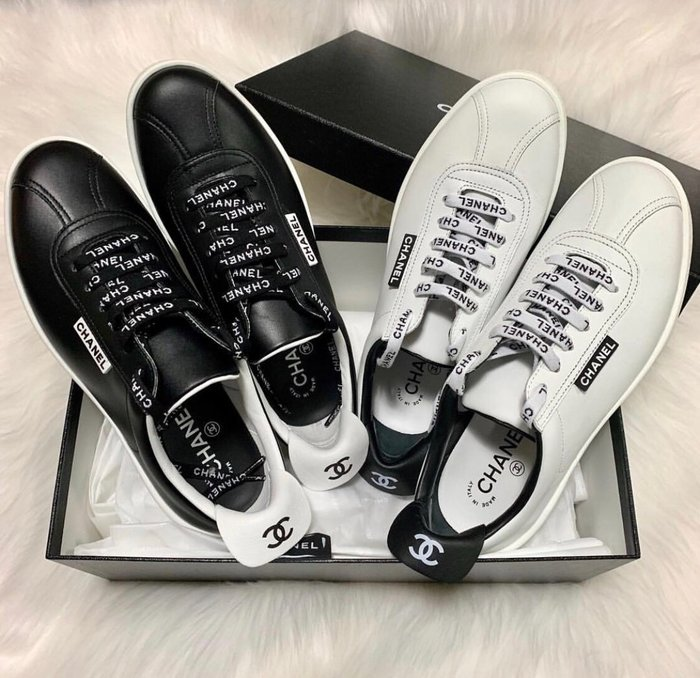 Chanel sneakers CC logo 休閒鞋 白 / 粉紅 37.5