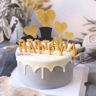 ❤愛樂芙 派對x佈置❤ 金色/銀色/玫瑰金/彩色 蛋糕蠟燭 Happy Birthday英文字母生日蠟燭 13支裝