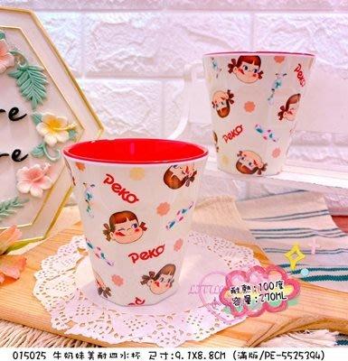 ♥小花花日本精品♥不二家牛奶妹大臉紅色內裡造型美耐皿水杯~3