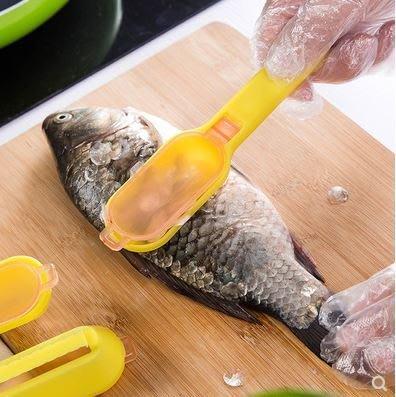 【地攤站】帶蓋魚鱗刨刀 刮魚鱗器 家庭廚房必備 帶蓋魚鱗刀19元