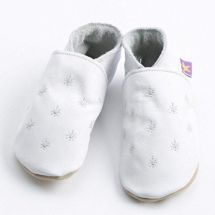 〖洋碼頭〗英國Starchild全牛皮軟底學步鞋星耀夜白款小小花園嫩粉款 L2849