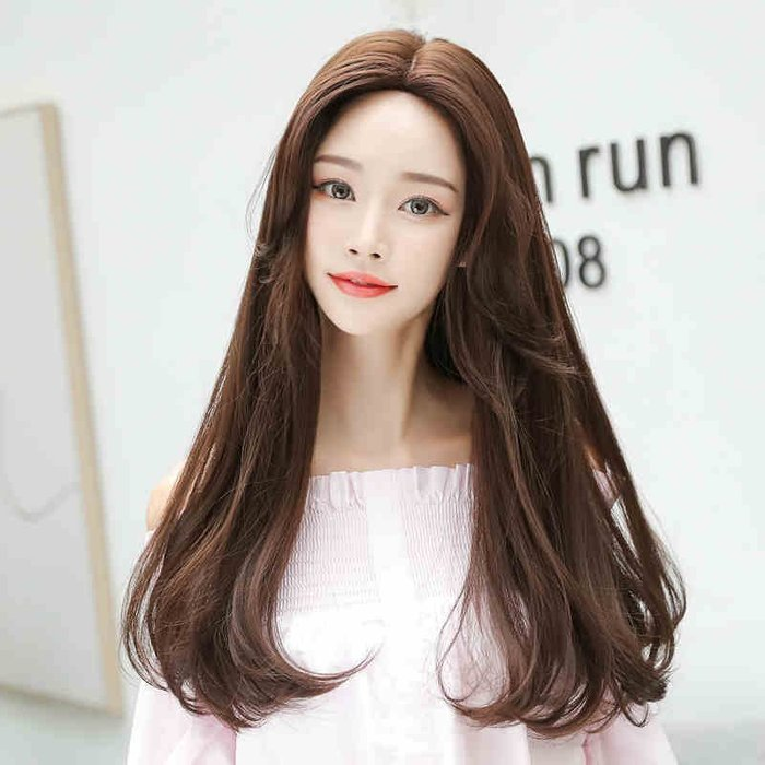 韓系高仿真 獨家工法 倒針技術 中分 耐熱  髮尾微捲 長髮 假髮【C8205】*╮Kinkee假髮╭*