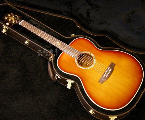 《民風樂府》日廠 TAKAMINE TF77PT 真空管EQ OM琴身 KOA側背板 全單板電木吉他